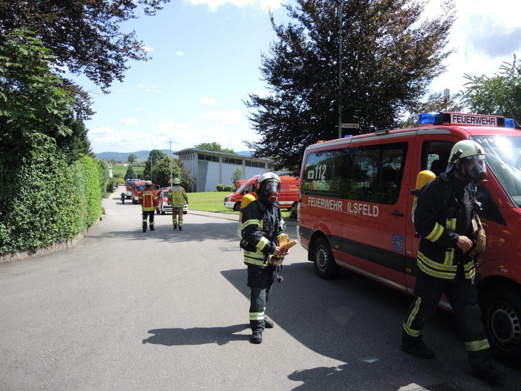 Gasausströmung Freiwillige Feuerwehr