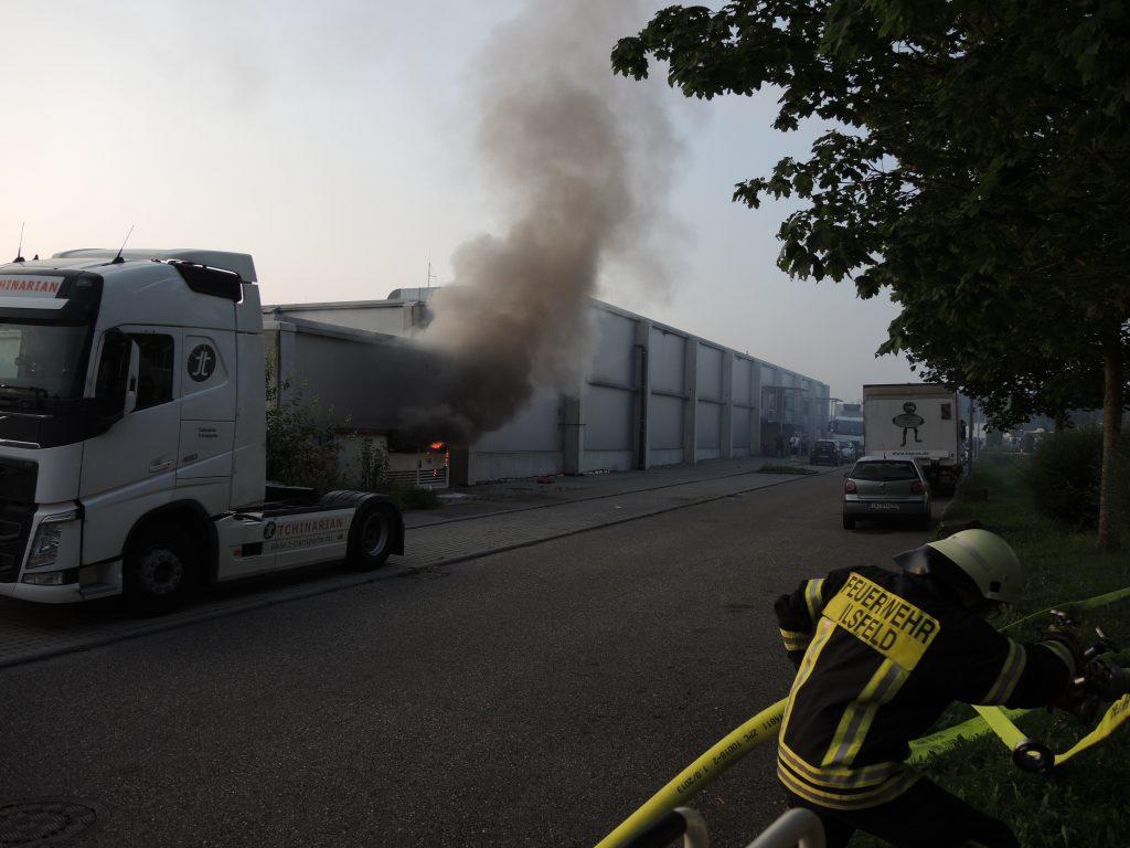 Brand Einer Trafostation Freiwillige Feuerwehr